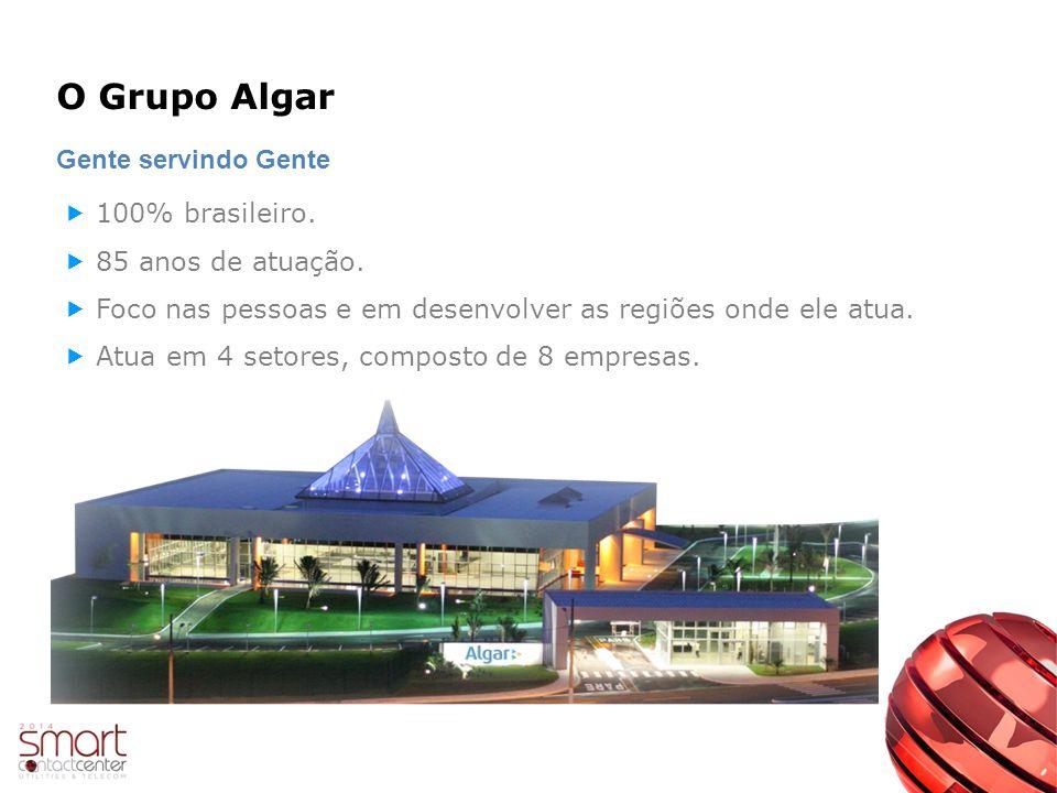 O Grupo Algar Gente servindo Gente 100% brasileiro.