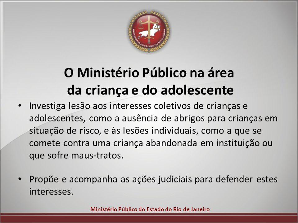 O Ministério Público na área da criança e do adolescente