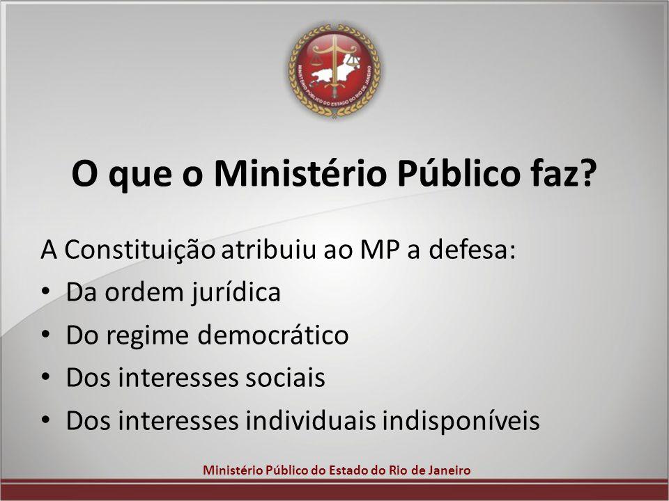 O que o Ministério Público faz