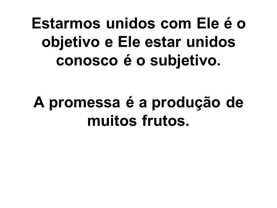 A promessa é a produção de muitos frutos.
