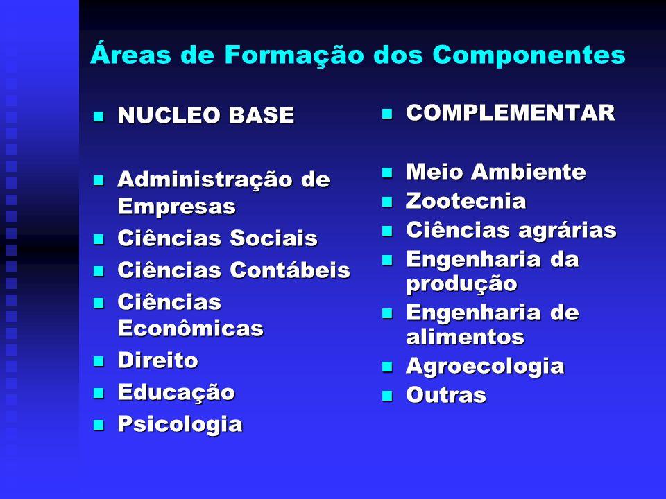 COMPONENTES Professores, pesquisadores (efetivos/colaboradores) Técnicos (efetivos/contratados)