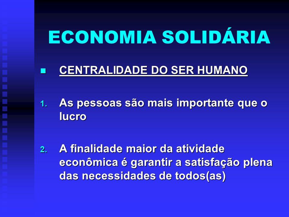 ECONOMIA SOLIDÁRIA CONCEITO