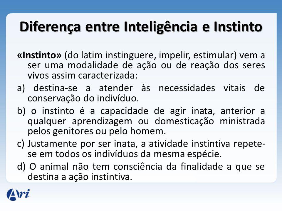 Diferença entre Inteligência e Instinto