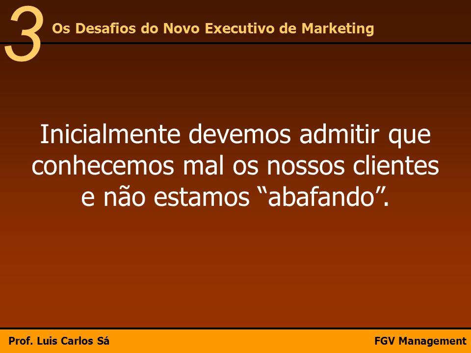 3 Os Desafios do Novo Executivo de Marketing. Inicialmente devemos admitir que conhecemos mal os nossos clientes e não estamos abafando .