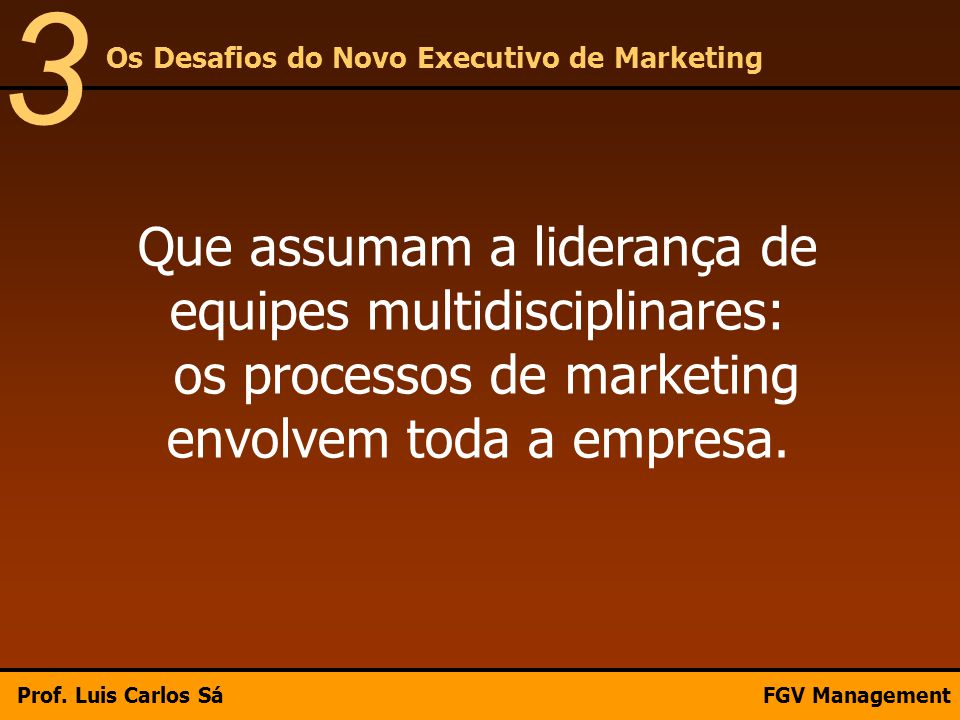 3 Os Desafios do Novo Executivo de Marketing.
