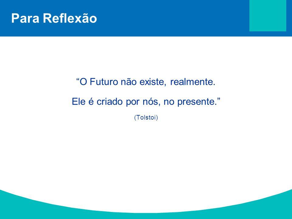 Para Reflexão O Futuro não existe, realmente.