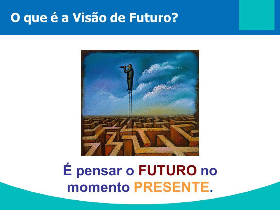É pensar o FUTURO no momento PRESENTE.