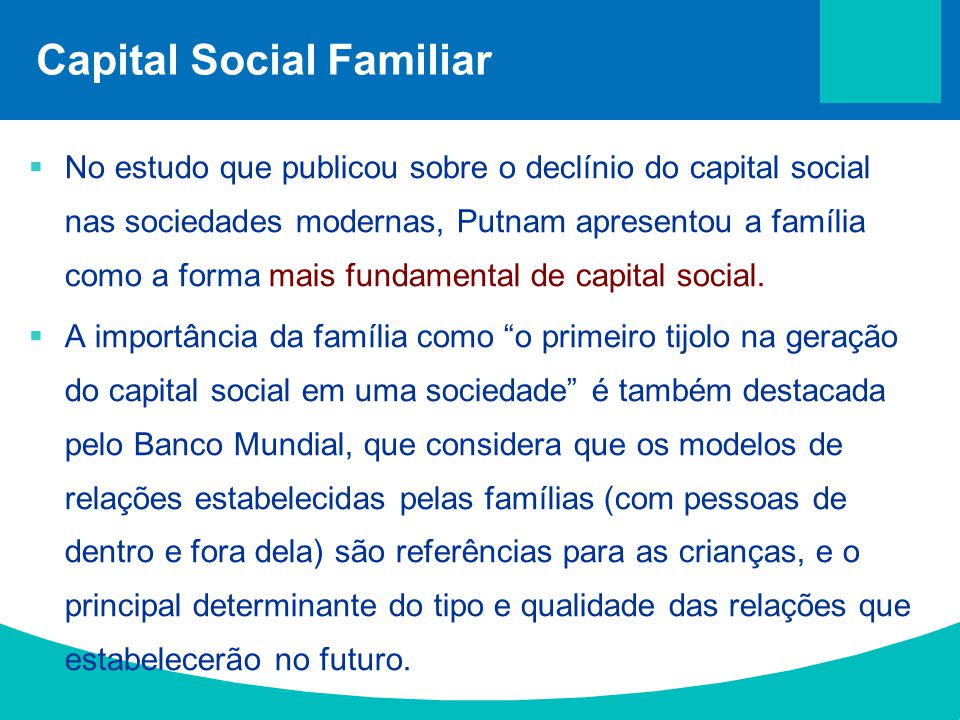 Capital Social Familiar