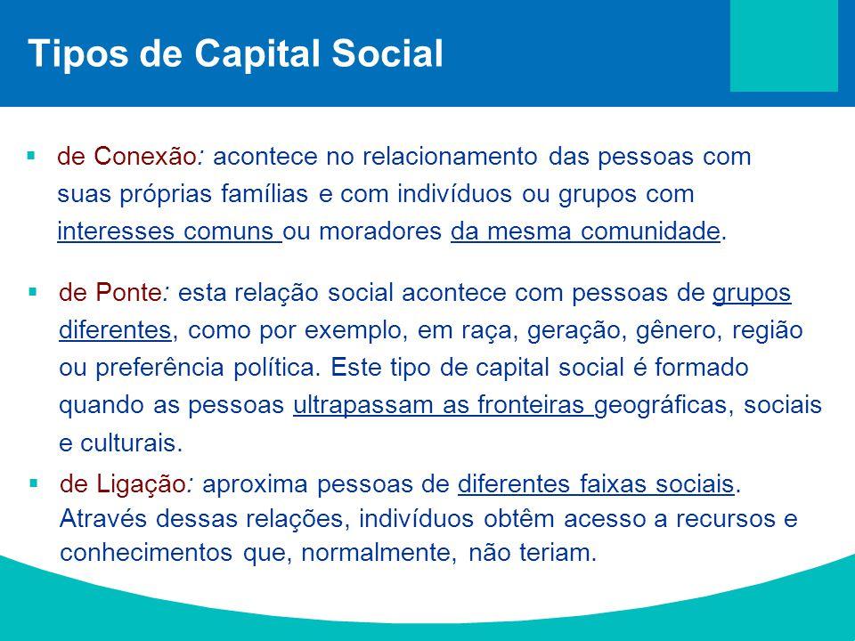 Tipos de Capital Social
