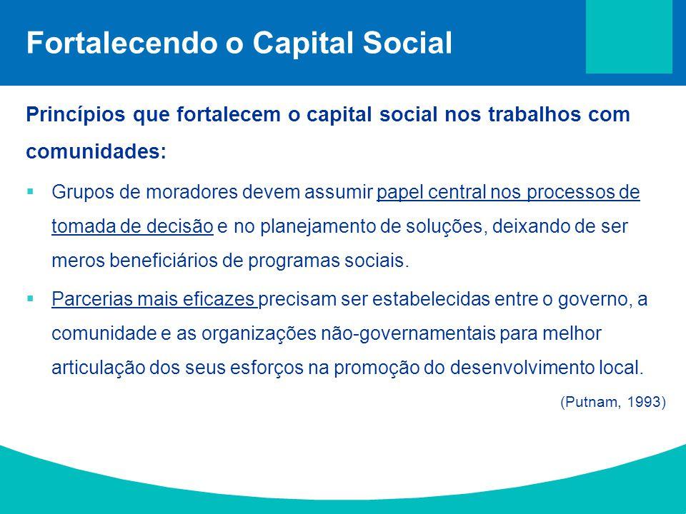 Fortalecendo o Capital Social