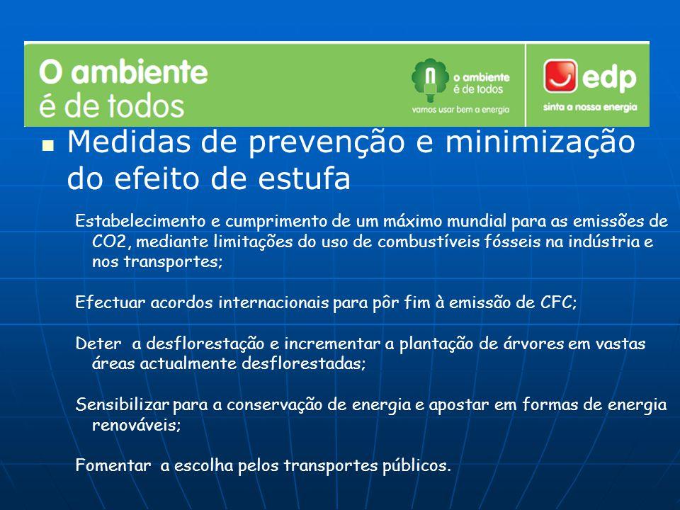 Medidas de prevenção e minimização do efeito de estufa