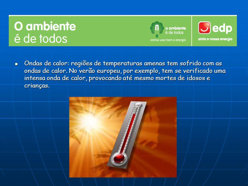 Ondas de calor: regiões de temperaturas amenas tem sofrido com as ondas de calor.