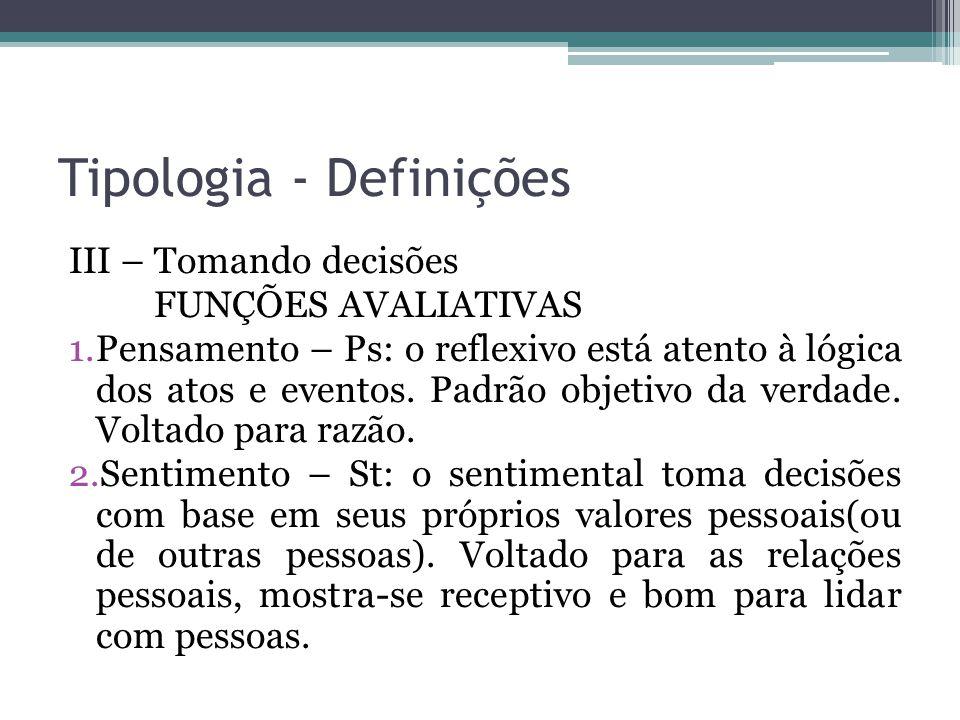 Tipologia - Definições