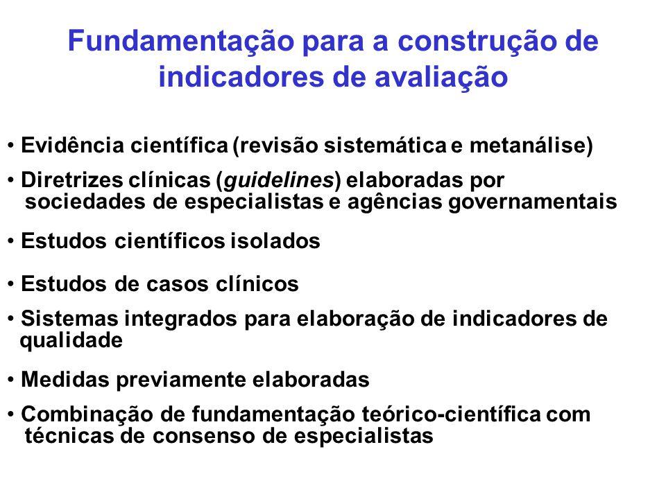 Fundamentação para a construção de indicadores de avaliação