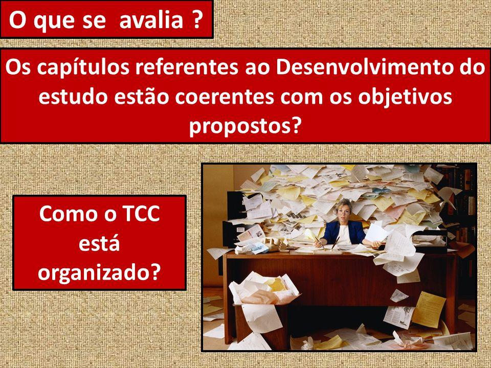 Como o TCC está organizado