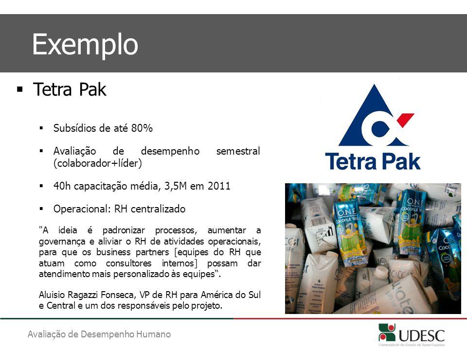 Exemplo Tetra Pak Subsídios de até 80%