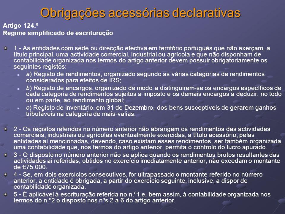 Obrigações acessórias declarativas