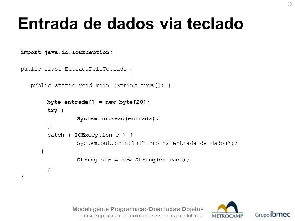 Entrada de dados via teclado