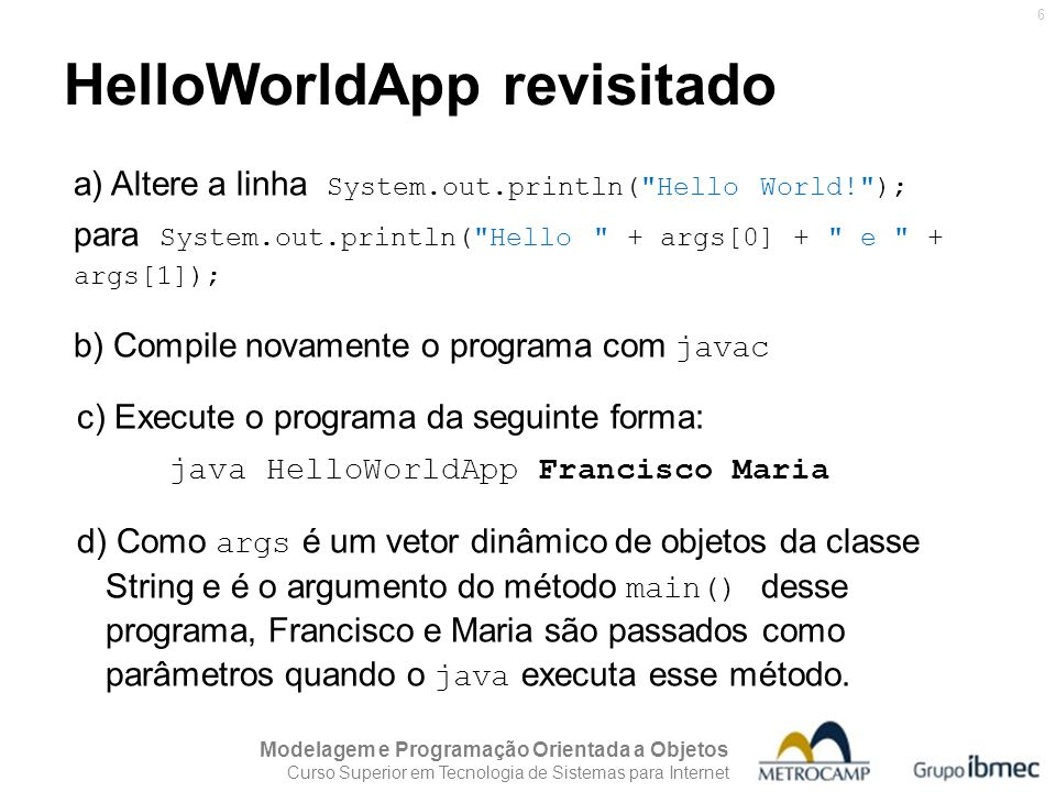HelloWorldApp revisitado