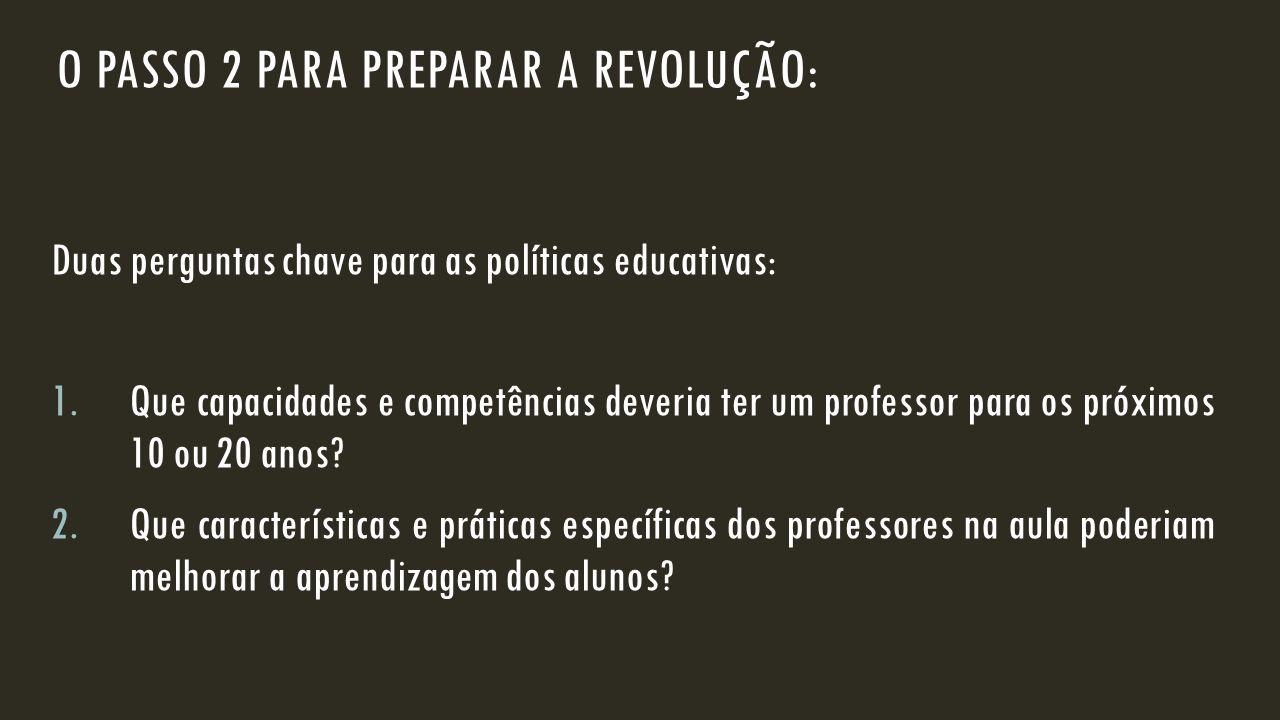 O passo 2 para preparar a revolução: