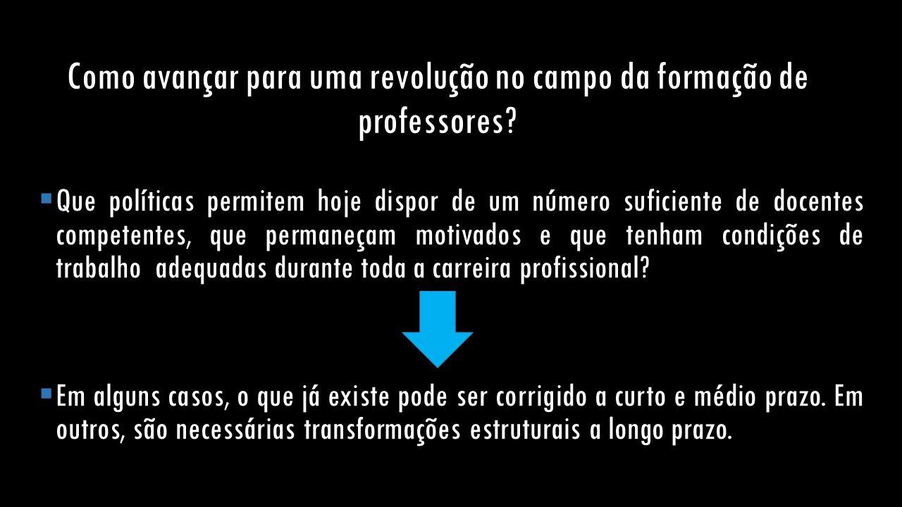 Como avançar para uma revolução no campo da formação de professores