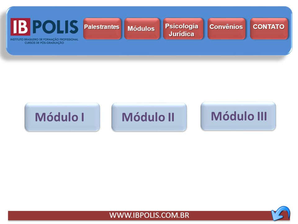 Módulo I Módulo II Módulo III WWW.IBPOLIS.COM.BR Psicologia Jurídica