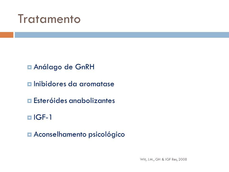 Tratamento Análago de GnRH Inibidores da aromatase