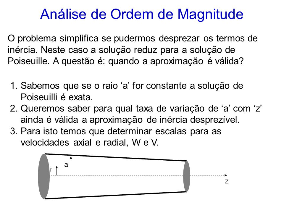 Análise de Ordem de Magnitude