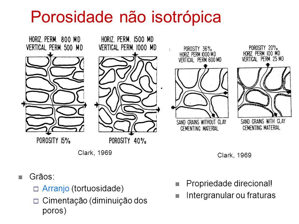Porosidade não isotrópica