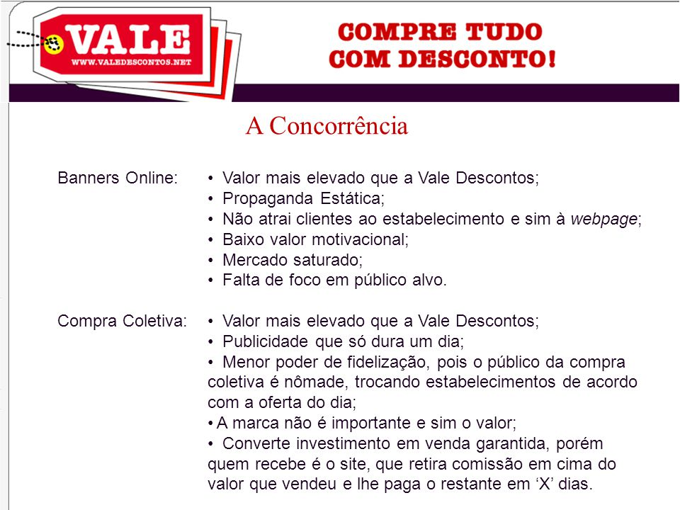 A Concorrência Banners Online: Compra Coletiva: