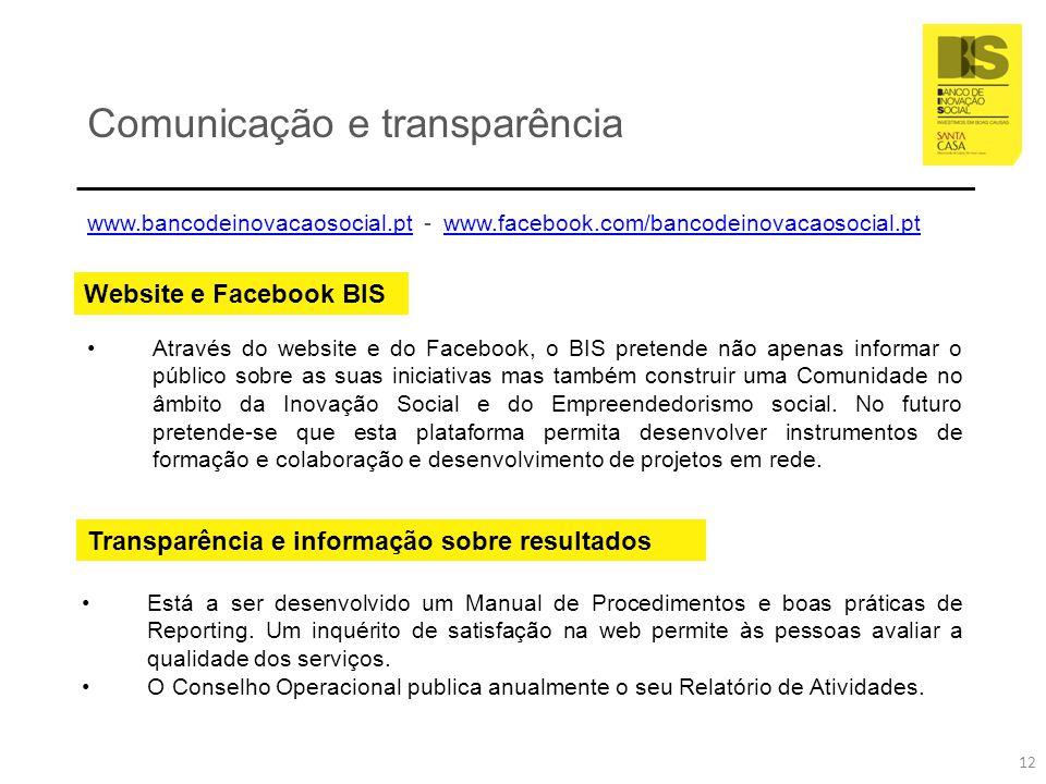 Comunicação e transparência