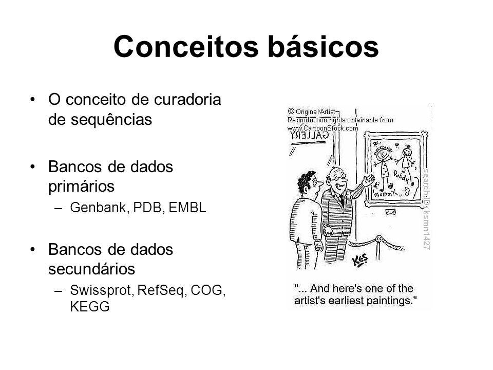 Conceitos básicos O conceito de curadoria de sequências