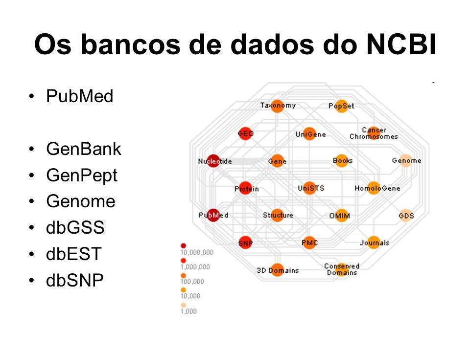 Os bancos de dados do NCBI