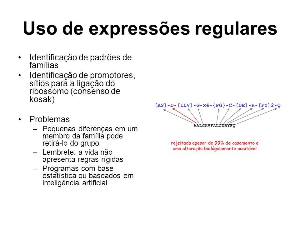 Uso de expressões regulares