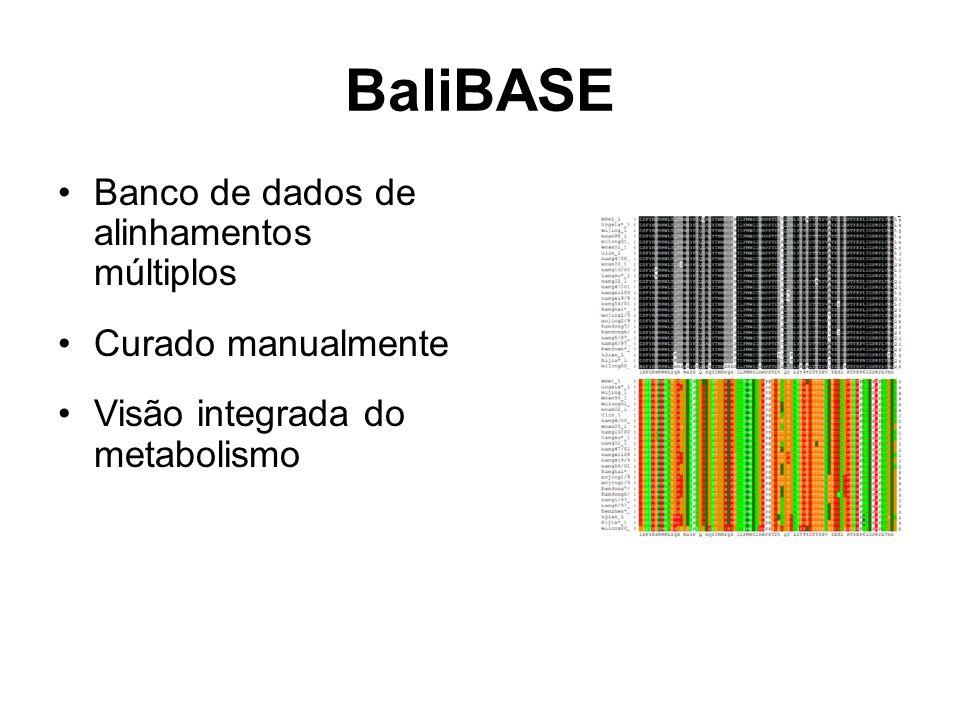 BaliBASE Banco de dados de alinhamentos múltiplos Curado manualmente