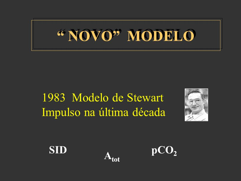 NOVO MODELO 1983 Modelo de Stewart Impulso na última década SID