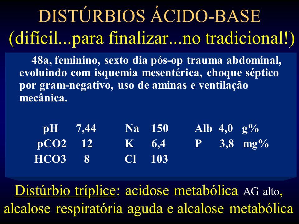 DISTÚRBIOS ÁCIDO-BASE (difícil...para finalizar...no tradicional!)