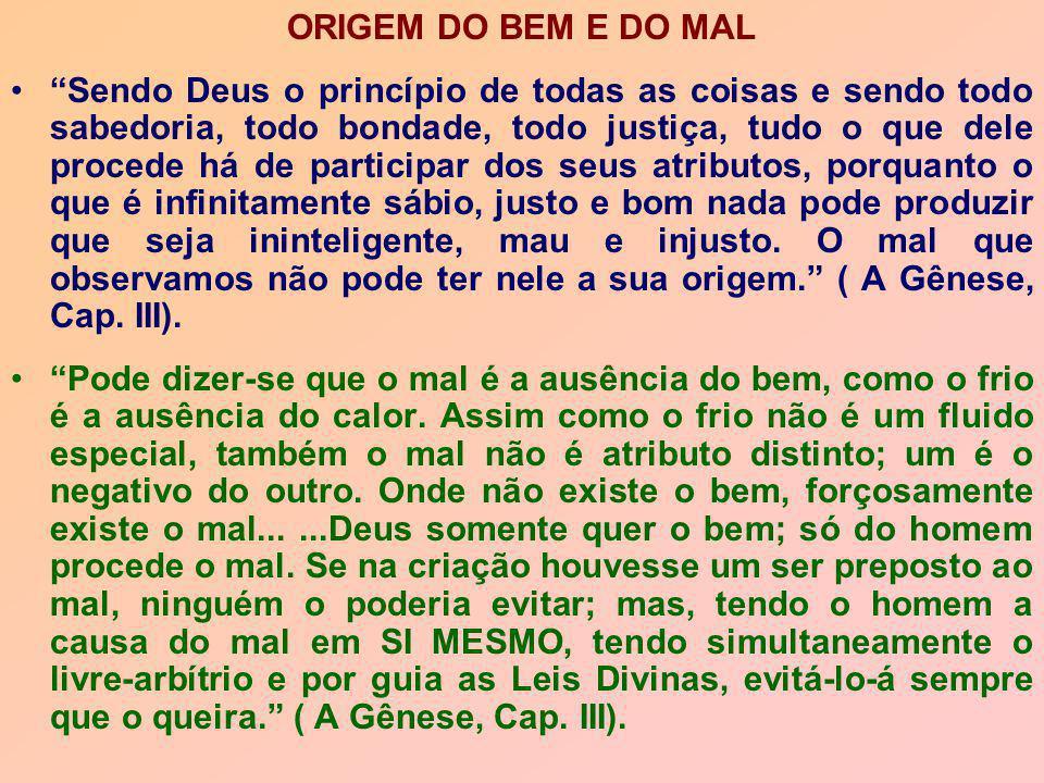ORIGEM DO BEM E DO MAL