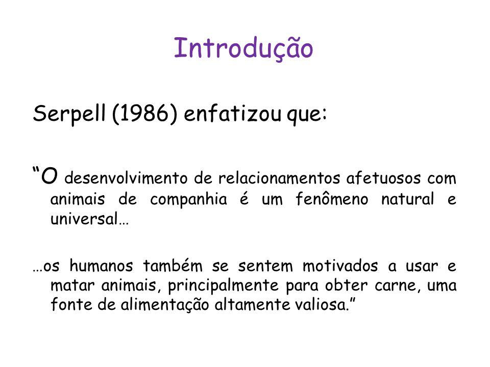 Introdução Serpell (1986) enfatizou que: