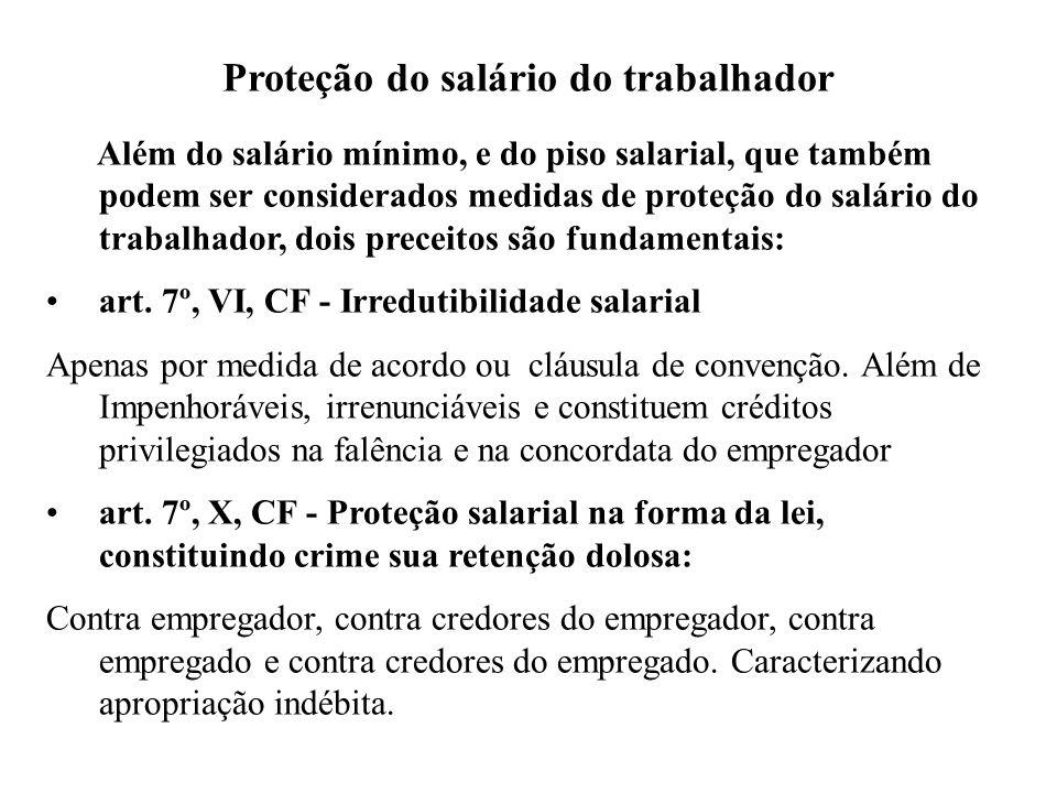 Proteção do salário do trabalhador