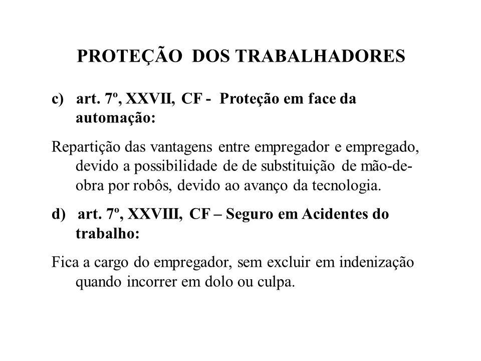 PROTEÇÃO DOS TRABALHADORES