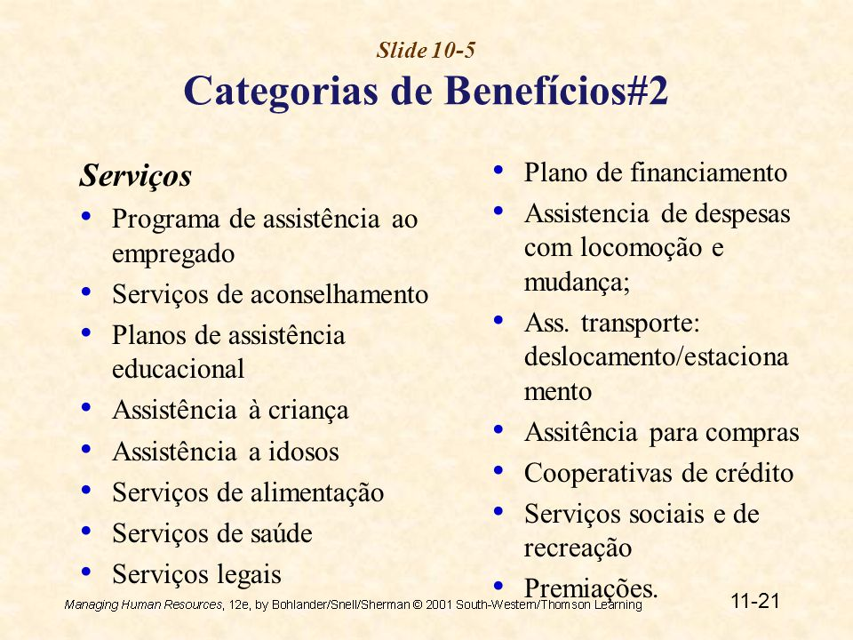 Slide 10-5 Categorias de Benefícios#2