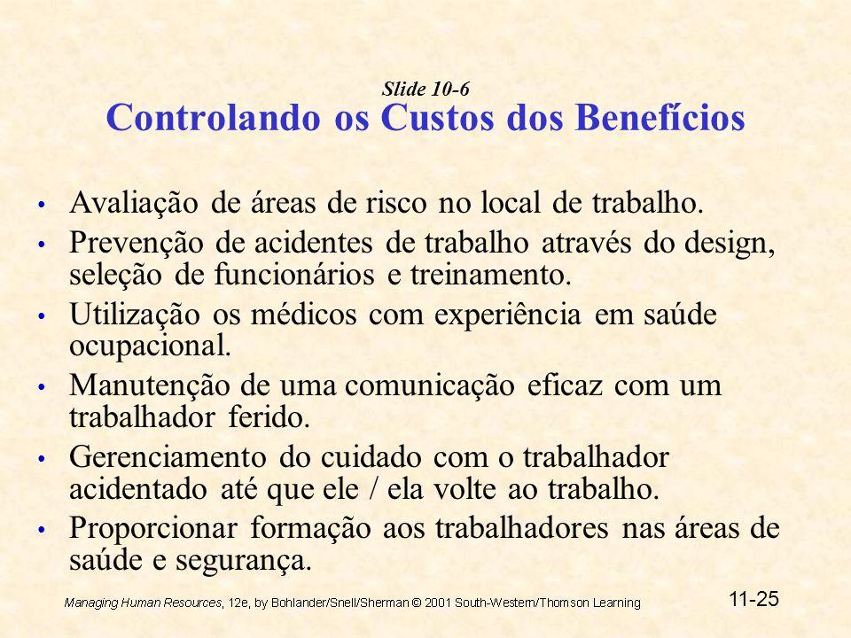 Slide 10-6 Controlando os Custos dos Benefícios