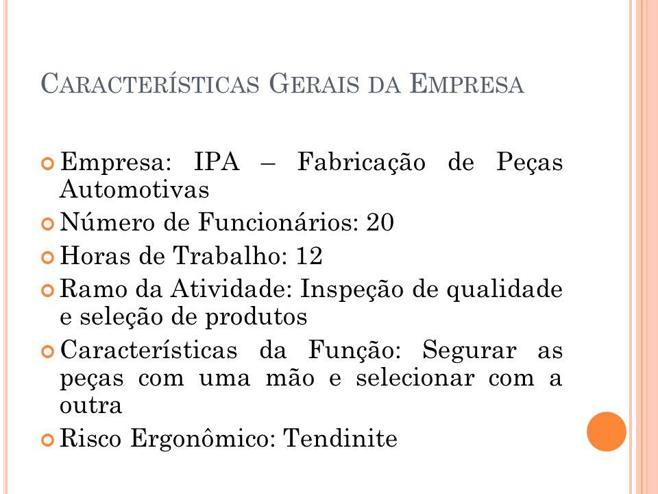 Características Gerais da Empresa