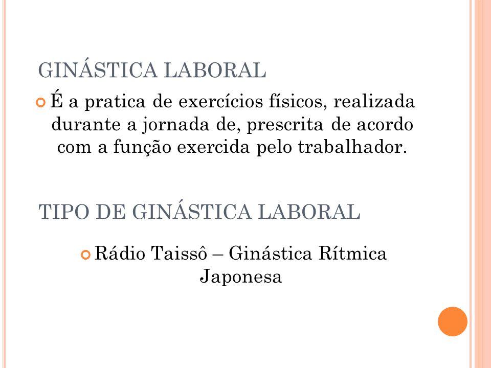 TIPO DE GINÁSTICA LABORAL