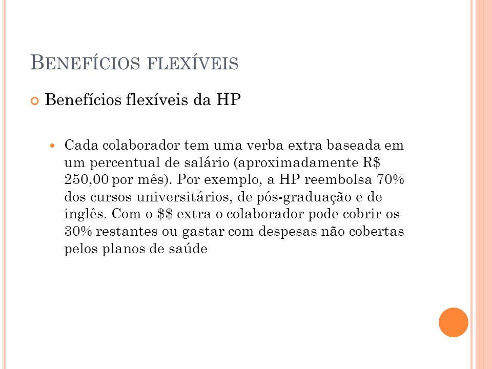 Benefícios flexíveis Benefícios flexíveis da HP