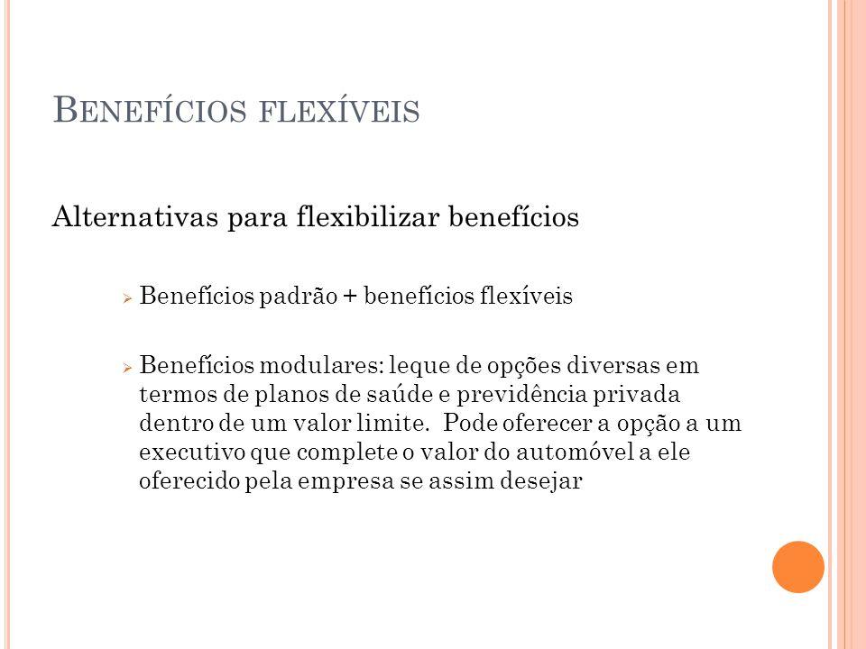 Benefícios flexíveis Alternativas para flexibilizar benefícios