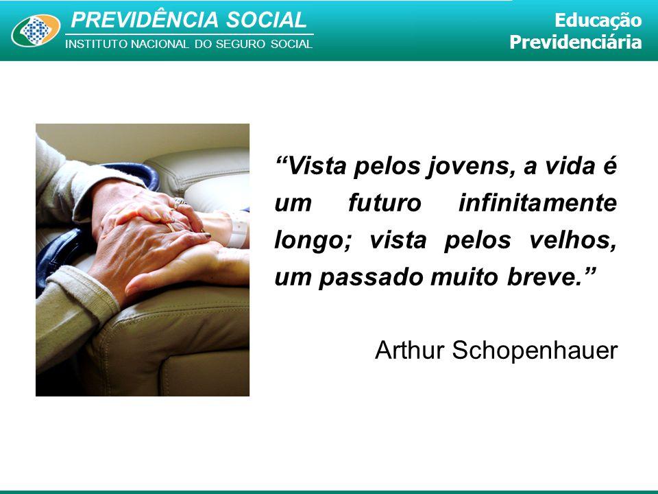 Vista pelos jovens, a vida é um futuro infinitamente longo; vista pelos velhos, um passado muito breve.