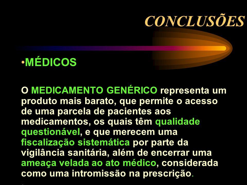 CONCLUSÕES MÉDICOS.