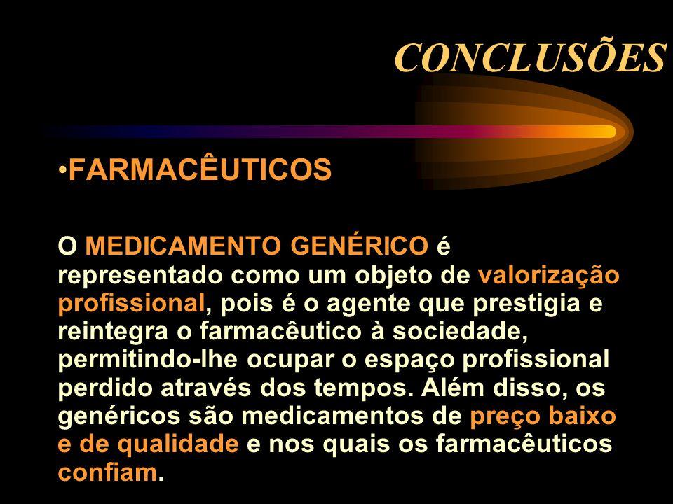 CONCLUSÕES FARMACÊUTICOS